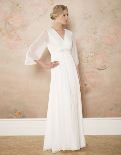 Monsoon Womens Margot Bridal Dress Size 8 White