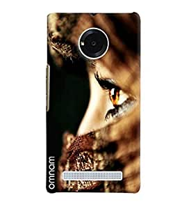 Omnam Girl Eyes In Closeup Printed Designer Back Cover Case For Micromax Yunique