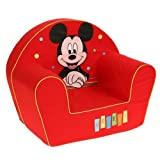 Disney 6720024 - Sillón infantil Happy Mickey Mouse, color rojo