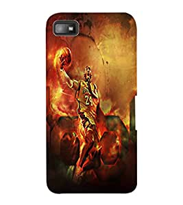 ColourCraft BasketBall Player Design Back Case Cover for BLACKBERRY Z10