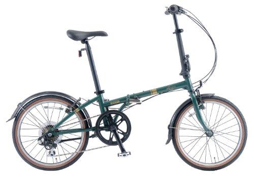 BICECO(バイセコ) 20インチシマノ7段変速クロモリ製折りたたみ自転車[輸行バック付属] BC-207C グリーン
