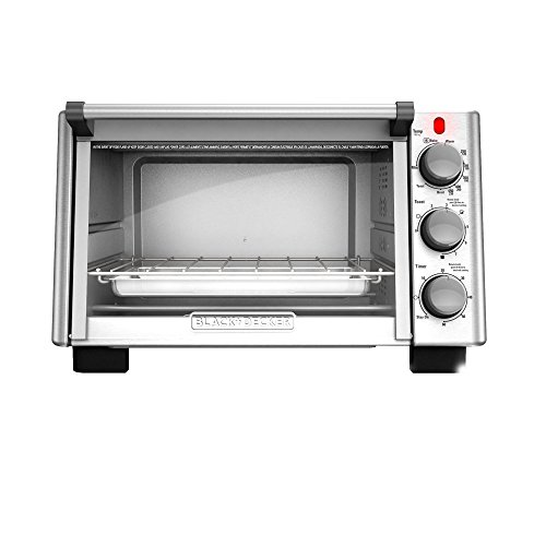 BLACK+DECKER TO2050S 6-Slice Convection Countertop Toaster Oven, Includes Bake Pan, Broil Rack & Toasting Rack, Stainless Steel/Black Convection Toaster Oven (Black And Decker Broiler Oven compare prices)