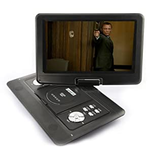 14 inch Portable Swivel Flip DVD Player Game USB TV SD