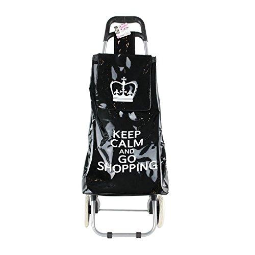 Chariot shopping de courses '' Keep Calm '' Noir