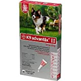 Bayer K9 Advantix II Red 4-Month Flea & Tick Drops for Large Dogs, 21-55 lbs.