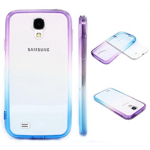 S4 Case, Samsung S4 Case,Galaxy S4 Case ,BAISRKE Purple and Blue Gradient TPU Soft Edge Bumper Case Rubber Silicone Skin Cover for Samsung Galaxy S4 I9500 I9505 SPH-L720 SGH-I337 SCH-I545 SGH-M919 (S4 Bumper Case compare prices)