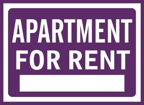Apartment for Rent Sig Removable Wall Sticker, Violet, S