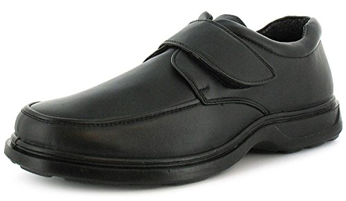 new-mens-gents-touch-fastening-comfort-fit-shoes-wider-fitting-black-uk-size-7
