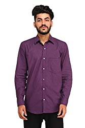 Snoby purple cotton shirt SBY8082