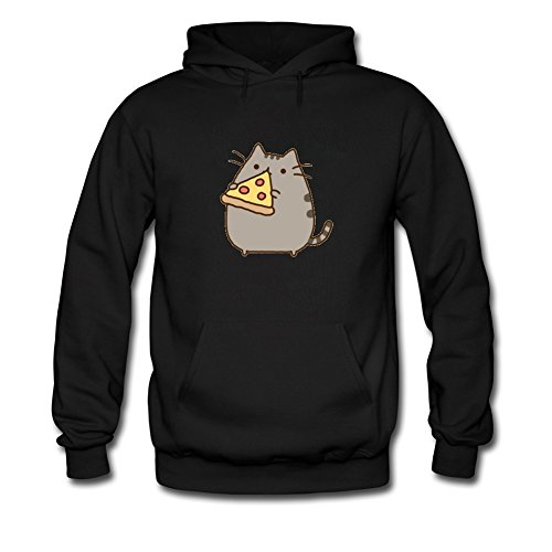 Pusheen Cat Eating Pizza For Boys Girls Hoodies Sweatshirts Pullover Outlet