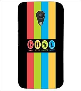 PrintDhaba Logos D-4034 Back Case Cover for MOTOROLA MOTO G2 (Multi-Coloured)