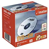 Imation DVD+RW Rewritable Disk Cased 4x Speed 120min 4.7GB Ref i19008