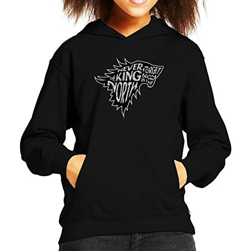 The North Never Forgets The King In The North Game Of Thrones Kid's Hooded Sweatshirt