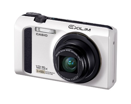 Casio Exilim EX-ZR100 Digital Camera - White (12.1MP, 12.5x Optical Zoom, 3 inch LCD)