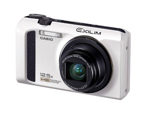 Casio Exilim EX-ZR100 Digital Camera - White (12.1MP, 12.5x Optical Zoom, 3 inch LCD)