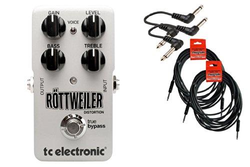 Tc Electronic Rottweiler Distortion Bundle - 4 Items: 2X 18.6' Strukture Cables, 2X Hosa Patch Cables