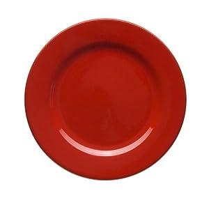 Waechtersbach Effect Glaze Cherry Rimmed Dinner Plates, Set of 4