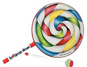 Remo ET-7106-00 6 inch Lollipop Hand Drum with Mallet