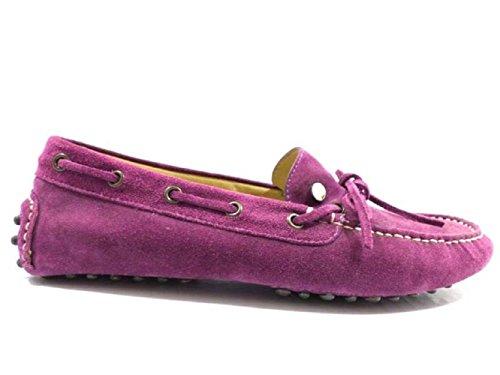 scarpe uomo ROY ROGERS 43 EU mocassini viola camoscio WH145