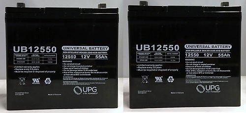 12V 55Ah Merits P181-P182 Mp11 Travel Ease Wheelchair Battery - 2 Pack