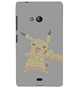 MICROSOFT LUMIA 540 TEXT Back Cover by PRINTSWAG