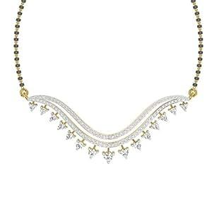 TBZ - The Original 18k (750) Yellow Gold and Diamond Tanmaniya Pendant