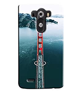 Blue Throat Sanfransico Bridge Hard Plastic Printed Back Cover/Case For LG G3