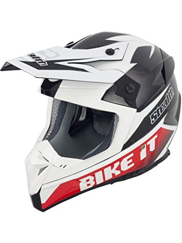 Casque Motocross Stealth 2014 HD210 Carbon Kevlar GP Bike It Logo
