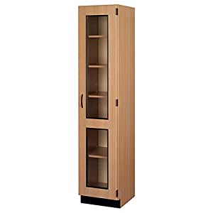 Tall Display Cabinet Right Hinge Door 18 W X 84 H X 23 D Modular Storage