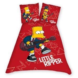 Bart Simpson chitarra Set Copripiumino Pannello 135x 200cm + federa 80x 80cm