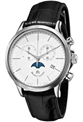 Maurice Lacroix Men's LC1148-SS001130 Les Classiqu Chronograph Moonphase Dial Watch