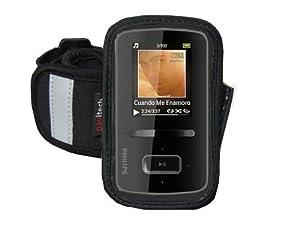 "Navitech Black/ Silver Neoprene Water Resistant Sports Gym, Jogging / Running Armband Case with for Larger Smart Phones (up to 4.3 "" screens) Such As: Samsung Google Nexus/ Samsung Galaxy Nexus/ LG Google Nexus 4"
