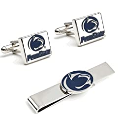 Penn State University Nittany Lions Cufflinks and Tie Bar Gift Set by NCAA Gift Sets