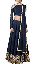 Bhavya Enterprise Blueberry Georgatte Lehenga