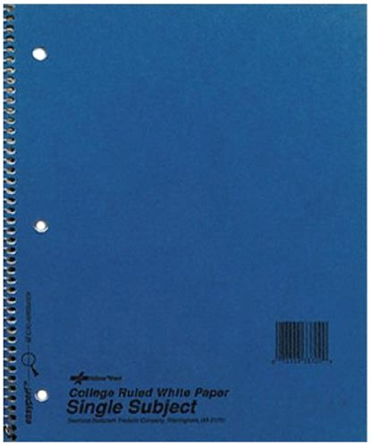 416TI6MnEWL. SL500  National Brand Kolor Kraft Cover Notebook, College, Blue, 3 Subject, 9.5 x 6 Inches, 150 Sheets (33360)