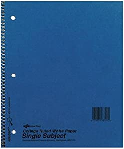 National Brand Kolor Kraft Cover Notebook, College, Blue, 3-Subject, 9.5 x 6 Inches, 150 Sheets (33360)