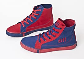 DIFF Shoes Men's Hi Tops Canvas Shoes