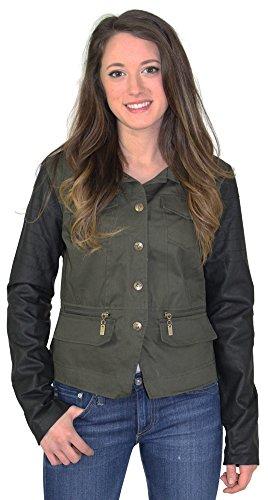 Dollhouse Women's Twill Vegan Moto Jacket Black Size 2XL