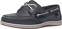 Sperry Top-Sider Women\'s Koifish Metallic Sparkle Boat Shoe,Black Leather/Textil