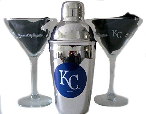Kansas City Royals Shaker and Martini Glass Gift Set
