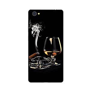 ezyPRNT Back Skin Sticker for Vivo X5 Pro Cigar & Whisky 2