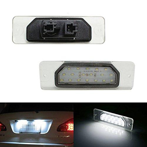 Ijdmtoy Oem Replacement Xenon White Led License Plate Light Lamps Assemblies For Infiniti Fx35 Fx45 Q45 I30 I35 M37 M56 Q70 Nissan Fuga Cefiro
