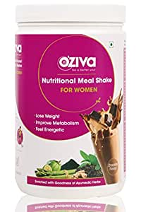 OZiva Nutritional Meal Shake for Women, 1 Month Weight Loss - 1 Jar(1 kg), Chocolate