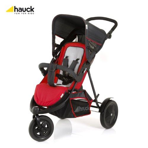 Hauck 513019 freerider sh 12 silla de paseo doble 3 ruedas sillas desmontables color rojo - Silla de paseo 3 ruedas ...