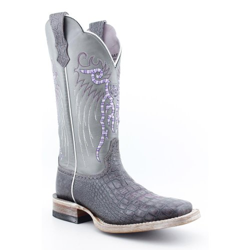 Ariat Women's Masteno Western Boot,Purple Metallic Gator Print/ Silver Streak,7 M US