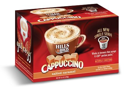 Hills Bros Salted Caramel Cappuccino Keurig K-Cups, 12 Count (Hills Brothers K Cups compare prices)