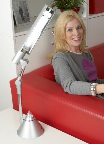 27 Watt Ionische Tageslicht Schreibtischlampe Silber