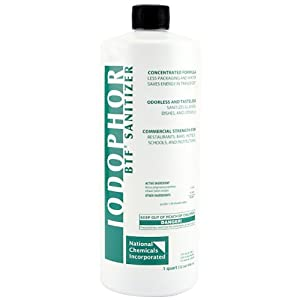 BTF Iodophor Sanitizer Cleaner for Home Brew Kegs - 32 oz