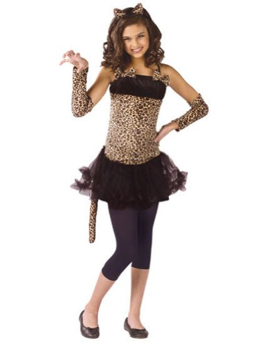Wild Cat Child 4-6 Kids Girls Costume