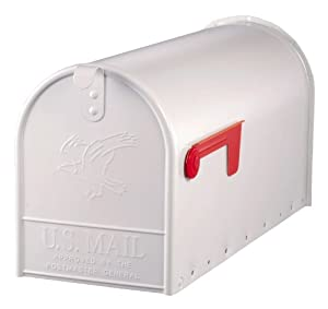 Solar Group E1600W00 Large Premium Steel Rural Mailbox, White